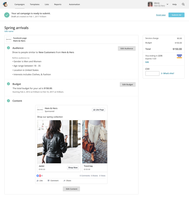 Now MailChimp Is Helping Small Businesses Buy Facebook Ads