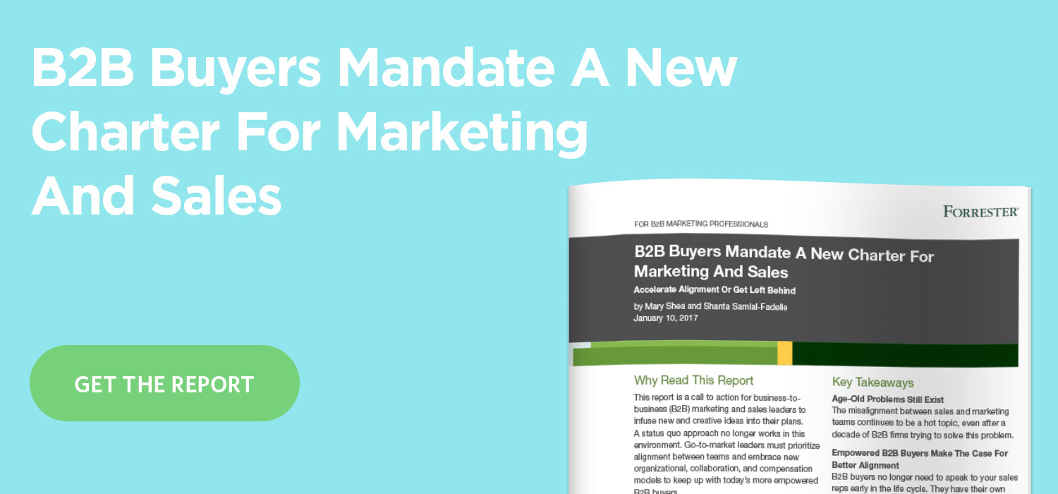 Forrester Says Sales and Marketing Must Join Forces or Get Left Behind