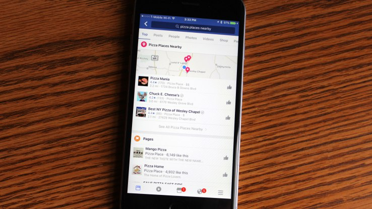 Facebook tests an enhanced local search and discovery feature offering business suggestions