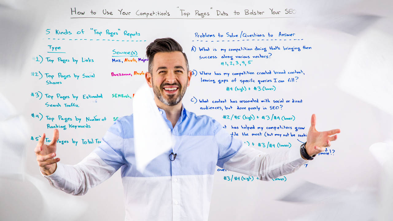 """How to Use Your Competition's """"Top Pages"""" Data to Bolster Your SEO Efforts – Whiteboard Friday"""