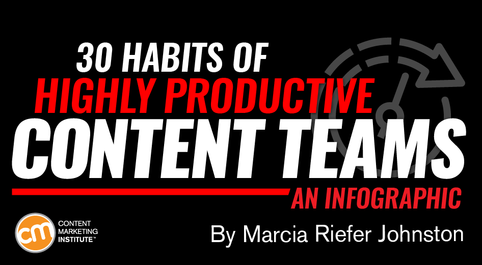 30 Habits of Highly Productive Content Teams [Infographic]