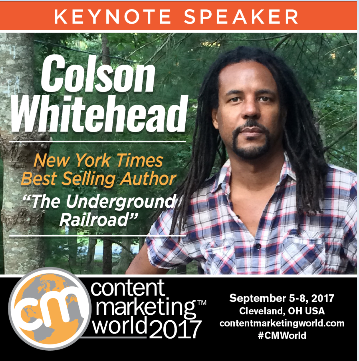 Bestselling author of The Underground Railroad kicks off CMWorld's Thursday main event
