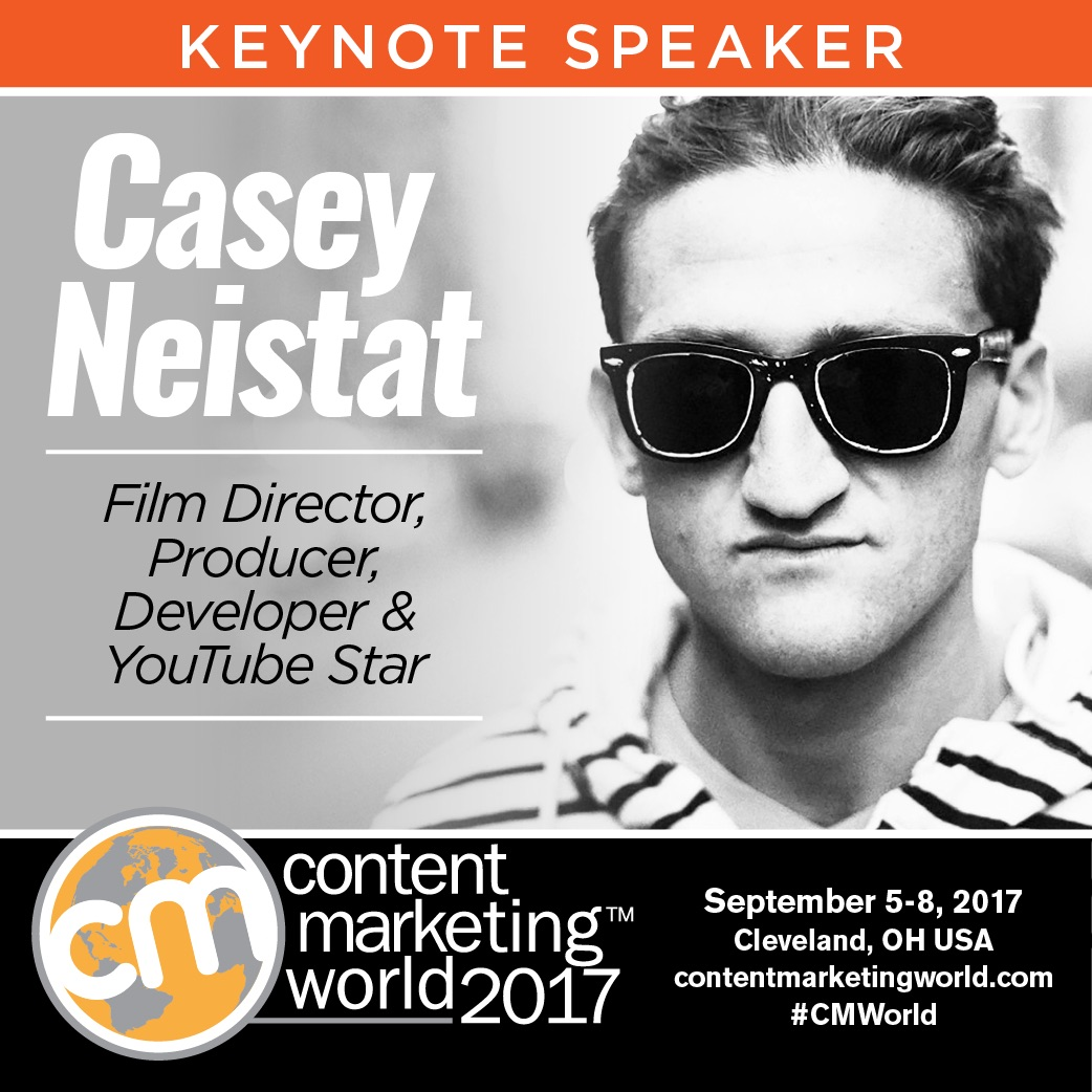 Film director and YouTube star Casey Neistat comes to Content Marketing World
