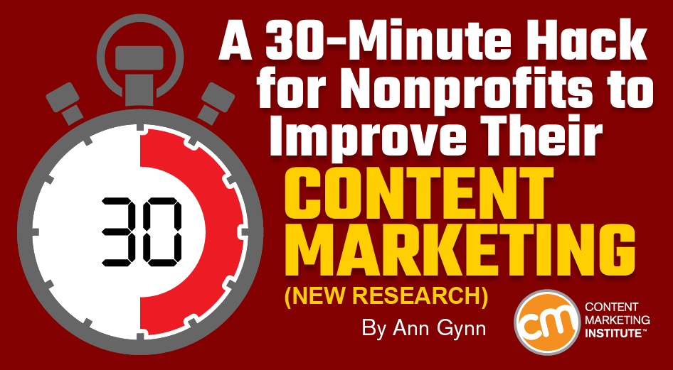 A 30-Minute Hack for Nonprofits to Improve Their Content Marketing [New Research]