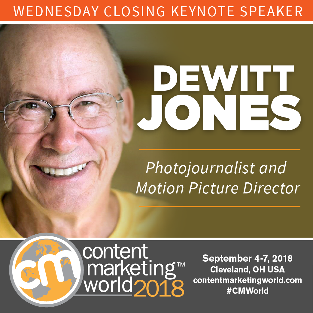 Dewitt Jones, veteran photojournalist, author and motion picture director, to take the CMWorld 2018 stage