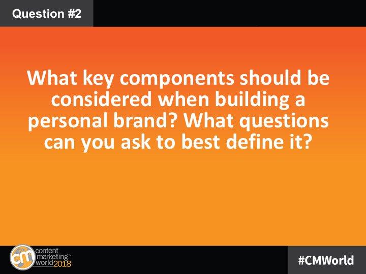 Personal Branding: A #CMWorld Twitter Chat with the CMWorld Community