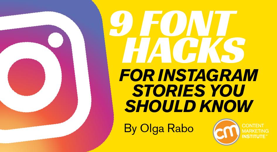 9 Font Hacks for Instagram Stories You Should Know