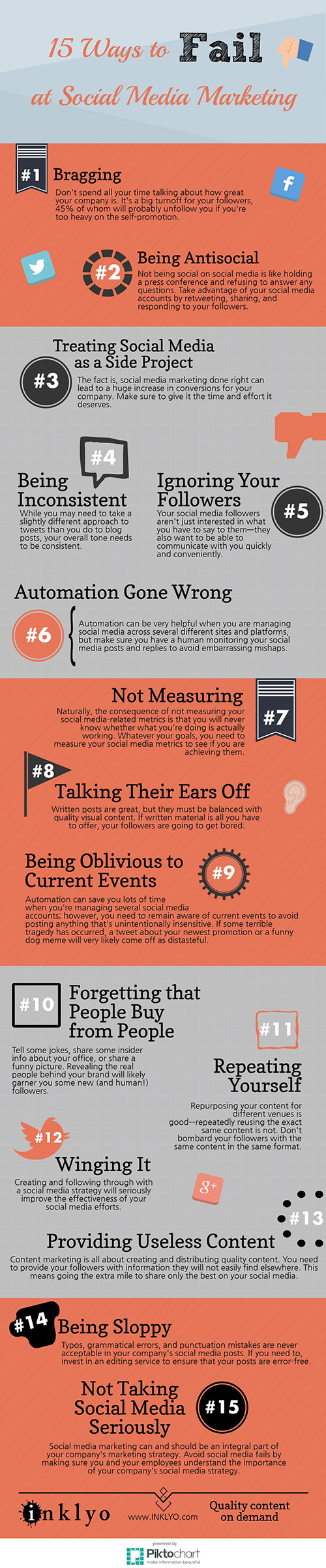 Infographic: 15 Mistakes That Could Tank Your Social Media Strategy
