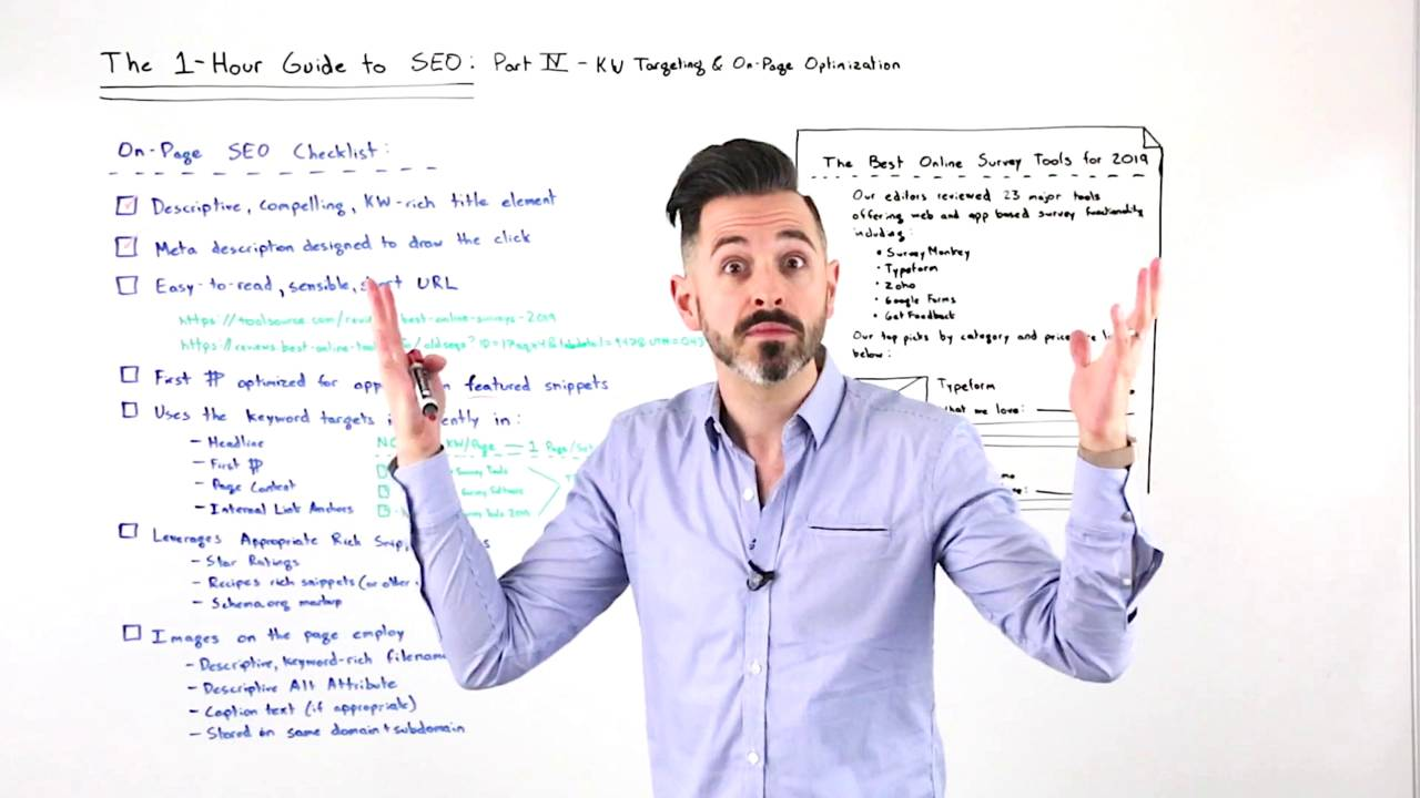 The One-Hour Guide to SEO: Keyword Targeting & On-Page Optimization – Whiteboard Friday